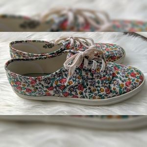 Keds Shoes - Keds Sneakers - Floral Print - Size 9 1/2